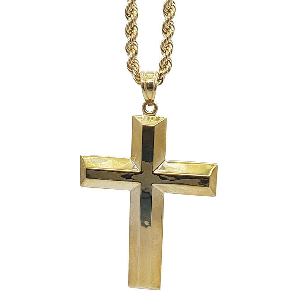 Rope Chain 4.0MM 10K With Cross OR 10K MNG-016 - WORLDSTARBLING