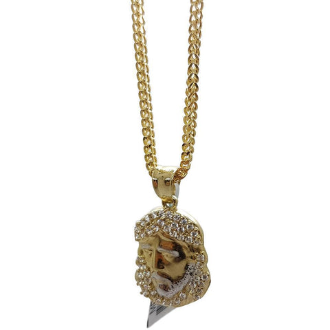 Chaine Franco 10K 2.2MM With Medallion De Jesus 10K - WORLDSTARBLING