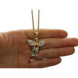 Rope Chain 10K With Pendentif Angel 10K - WORLDSTARBLING