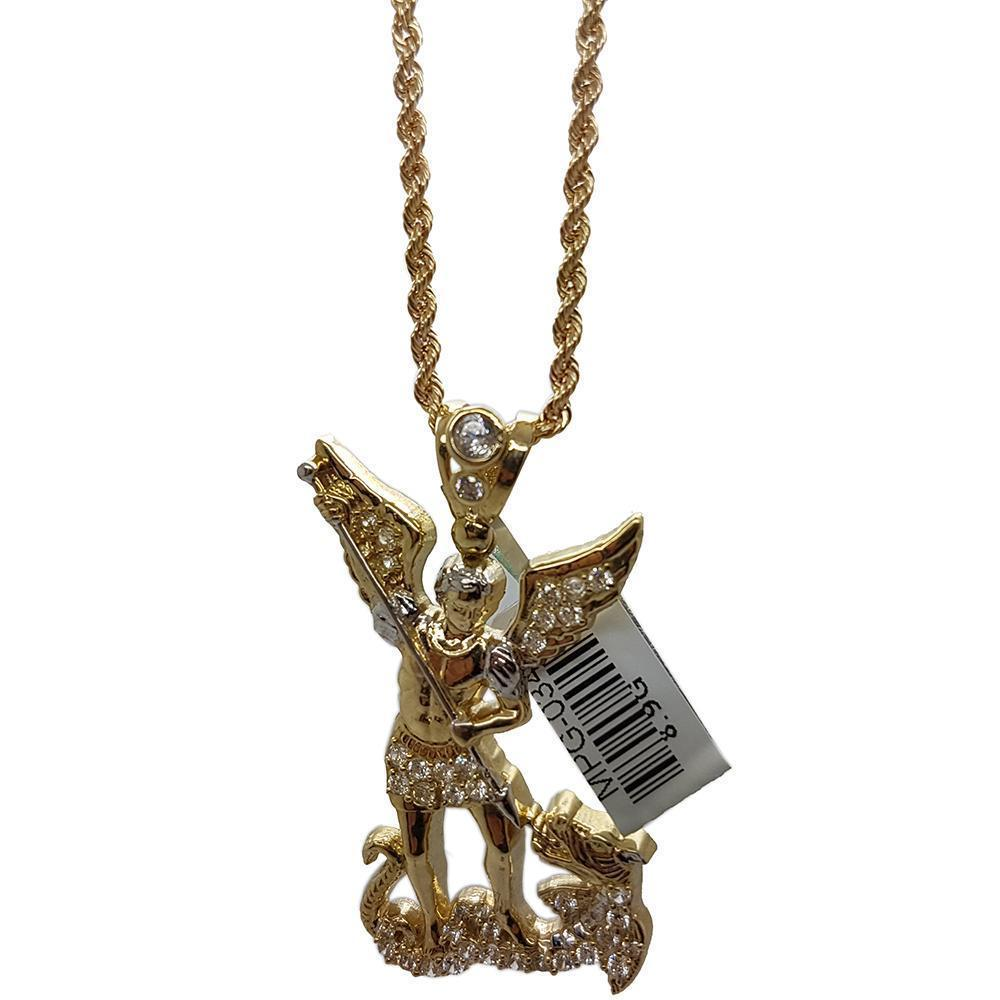 Rope Chain 2.5MM 10K With Pendentif Angle 10K MNG-109 - WORLDSTARBLING
