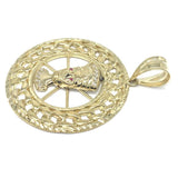 10K Yellow Gold Cuban Link Pendant CLP_004 - WORLDSTARBLING