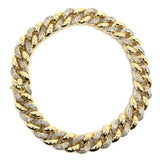 10K Yellow Gold 1.12CT Diamond Cuban Link Bracelet DBG-002 - WORLDSTARBLING