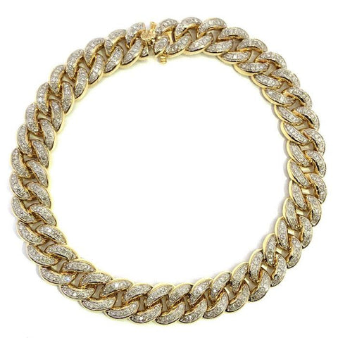 10K Yellow Gold 2.26CT Diamond Cuban Link Bracelet DBG-003 - WORLDSTARBLING