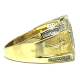10K Yellow Gold 0.57CT Diamond Ankh Ring DRG-003 - WORLDSTARBLING