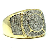 10K Yellow & White Gold 0.51CT Diamond Ring DRG-005 - WORLDSTARBLING