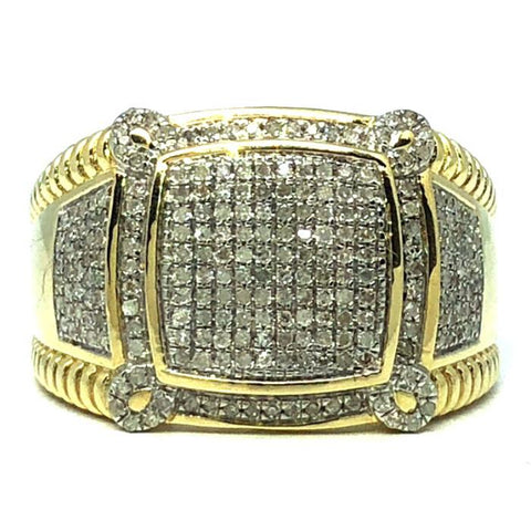 10K Yellow Gold  0.56CT Diamond Medusa Ring DRG-007 - WORLDSTARBLING