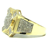 10K Yellow & White Gold 0.56CT Diamond Cross Ring DRG-008 - WORLDSTARBLING