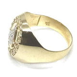 10K Yellow Gold and White Franc Mason Ring FMR_002 - WORLDSTARBLING