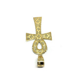Ankh Cross Diamond Cut Pendant in 10K Yellow Gold GAP-016 - WORLDSTARBLING