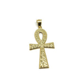 Man Pendant Yellow Gold 10K Ankh Cross M GAP-018 - WORLDSTARBLING