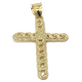 10K Yellow Gold Cross Pendant GCP_003 - WORLDSTARBLING