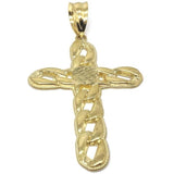 10K Yellow Gold Cross Pendant | GCP_006 - WORLDSTARBLING