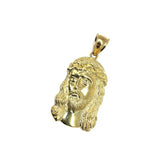 Jesus Round Head Men Pendant Yellow Gold 10K L GJP-022 - WORLDSTARBLING