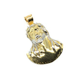 10K Yellow Gold Jesus Face Men's Pendant GJP-027 - WORLDSTARBLING