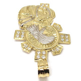 10K Yellow Gold and White Jesus Pendant GJP_005 - WORLDSTARBLING