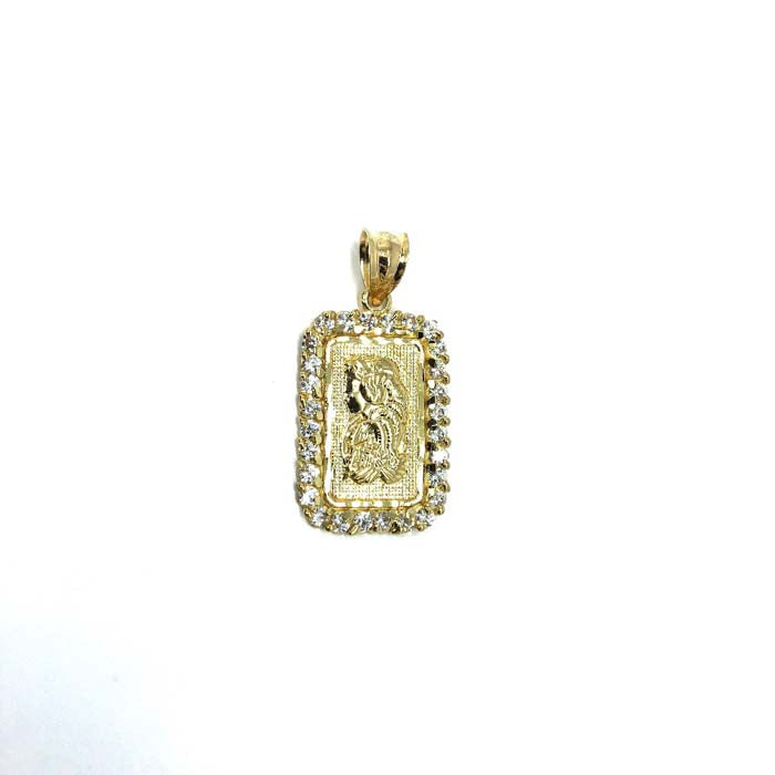 10K Gold Pendant Punk Swiss Lady Fortune LFG-008 - WORLDSTARBLING