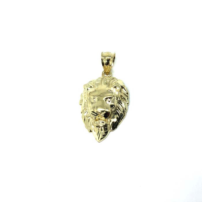 10K Gold Lion Zodiac Pendant with Diamond Cut S LGP-014 - WORLDSTARBLING