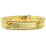 10K 11MM Rolly ID Bracelet MB-002 - WORLDSTARBLING