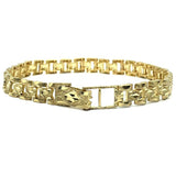 10K 6MM Diamond Cut Bracelet MB-006 - WORLDSTARBLING