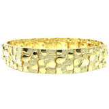 10K 14MM Nugget Bracelet MB-015 - WORLDSTARBLING