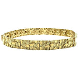 10K 7MM Nugget ID Bracelet MB-019 - WORLDSTARBLING