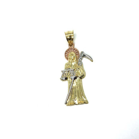 10K Yellow Gold 3 Tons Red Pink Reaper MPG-376 - WORLDSTARBLING