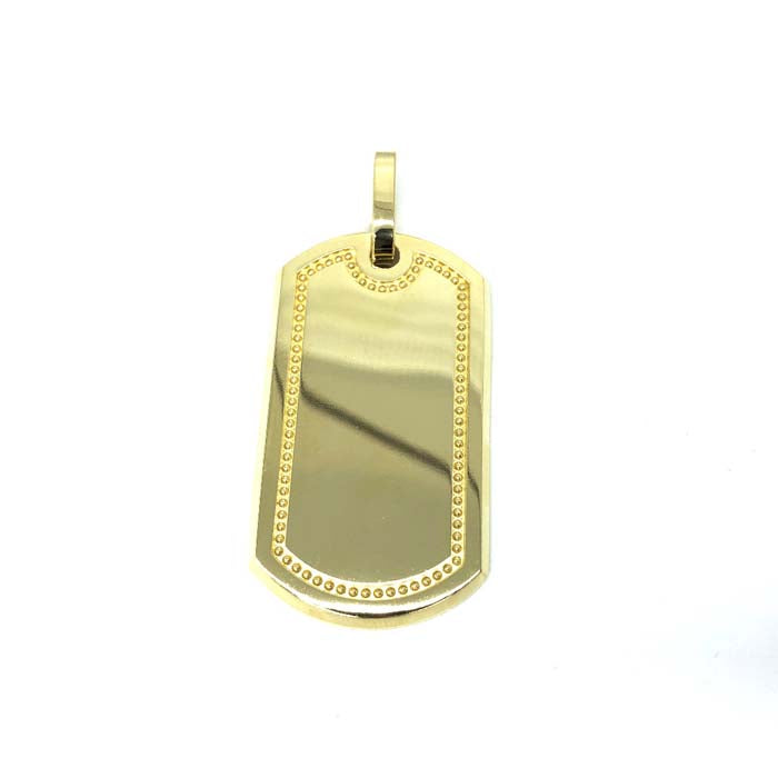 10K Yellow Gold Dog Tag Pendant MPG-397 - WORLDSTARBLING