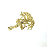 10 Karat Gold Anchor Men Pendant MPG-388 - WORLDSTARBLING