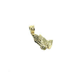 10K Yellow Gold Prayer Hand Man's Pendant S MPG-393 - WORLDSTARBLING