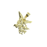 10K Yellow Gold Angel Pendant Male S MPG-397 - WORLDSTARBLING