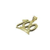 10K Emoji 100 Men's Pendant in Yellow Gold M MPG-402 - WORLDSTARBLING