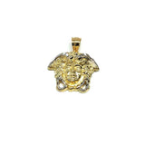 10K Yellow Gold Medusa Men's Pendant S MPG-405 - WORLDSTARBLING