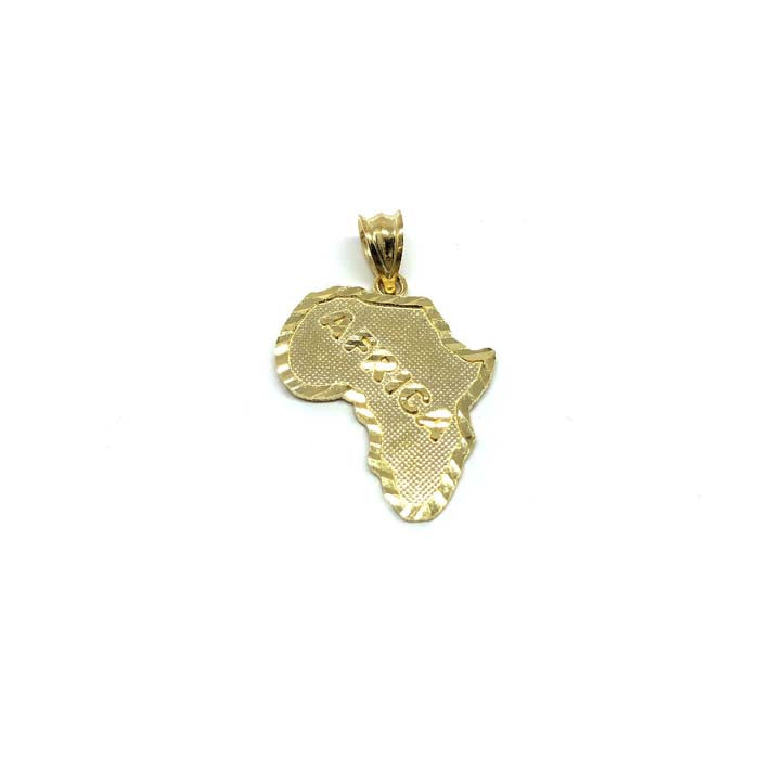 10K Yellow Gold Men's Pendant Map Of Africa XS MPG-423 - WORLDSTARBLING