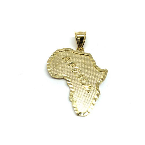 Map Of Africa 10K Yellow Gold Men's Pendant M MPG-426 - WORLDSTARBLING