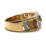 10K Yellow & White Gold Two-Tone Ring MRG-188 - WORLDSTARBLING