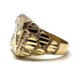 10K Yellow Gold Men Diamond Cut Ring MRG-192 - WORLDSTARBLING