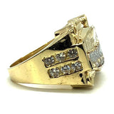 Yellow & White Gold 10K The Last Cone W Cz Ring MRG-204 - WORLDSTARBLING