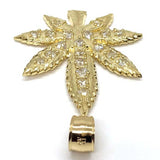 10K Yellow Gold Marijuanna Pendant MWG_016 - WORLDSTARBLING