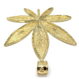 10K Yellow Gold Marijuanna Pendant MWG_018 - WORLDSTARBLING