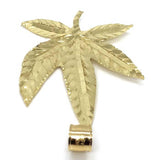 10K Yellow Gold Marijuanna Pendant MWG_021 - WORLDSTARBLING