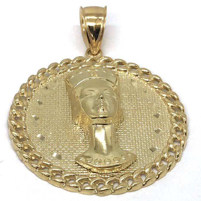 10K Yellow Gold Pharoah Pendant PGP_004 - WORLDSTARBLING