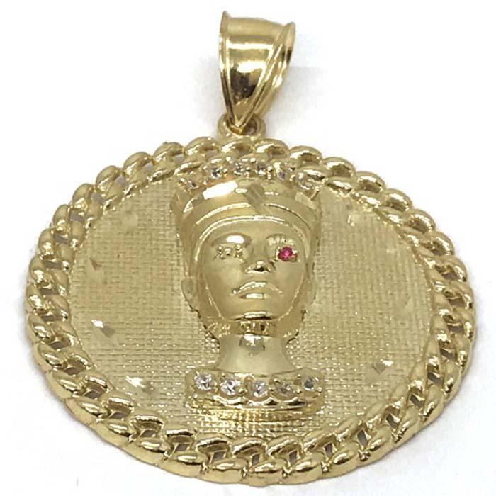 10K Yellow Gold Pharoah Pendant PGP_005 - WORLDSTARBLING