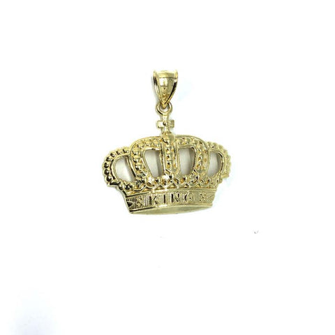 10K King Crown Gold Pendant RGP-004 - WORLDSTARBLING