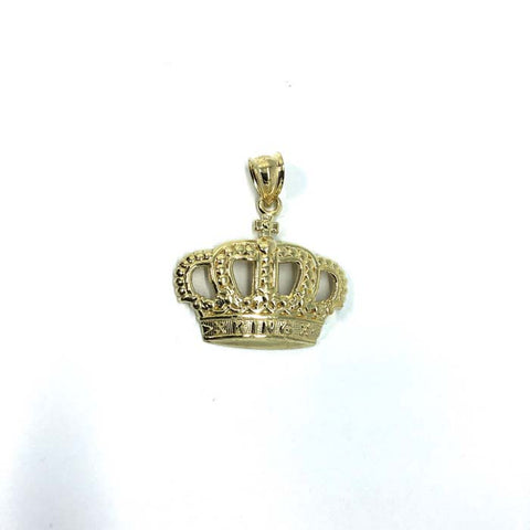 10K Gold Crown King Pendant RGP-005 - WORLDSTARBLING