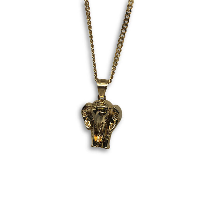 24IN 3MM CHAIN WITH ELEPHANT PENDANT STL_048