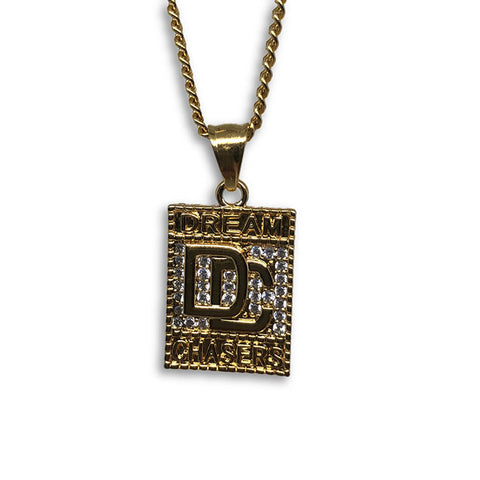 24IN 3MM CHAIN WITH DREAM CHASER EMOJI PENDANT STL_063 - WORLDSTARBLING