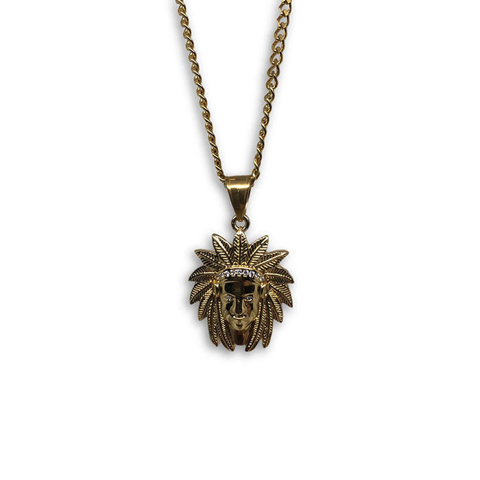 24IN 3MM CHAIN WITH NATIVE PENDANT STL_064 - WORLDSTARBLING