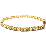 Yellow gold tennis bracelet 10K X 4.8MM WBG-012 - WORLDSTARBLING