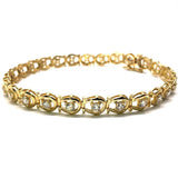 10K Yellow Gold 6.6MM WBG-014  Shoe Tennis Bracelet - WORLDSTARBLING