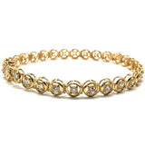 10K Yellow Gold Tennis Bracelet 6.7KM WBG-015 - WORLDSTARBLING